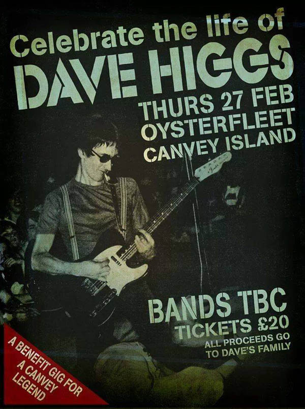 Celebrating The Life of Dave Higgs - The Oysterfleet Hotel, Canvey Island, Essex - 27.02.14
