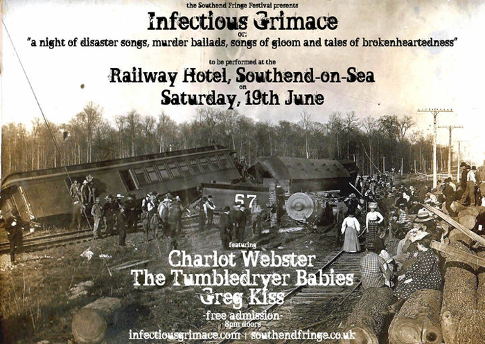 Infectious Grimace (Feat. Charlot Webster, The Tumbledryer Babies + Greg Kiss) at The Railway Hotel, Southend - Free