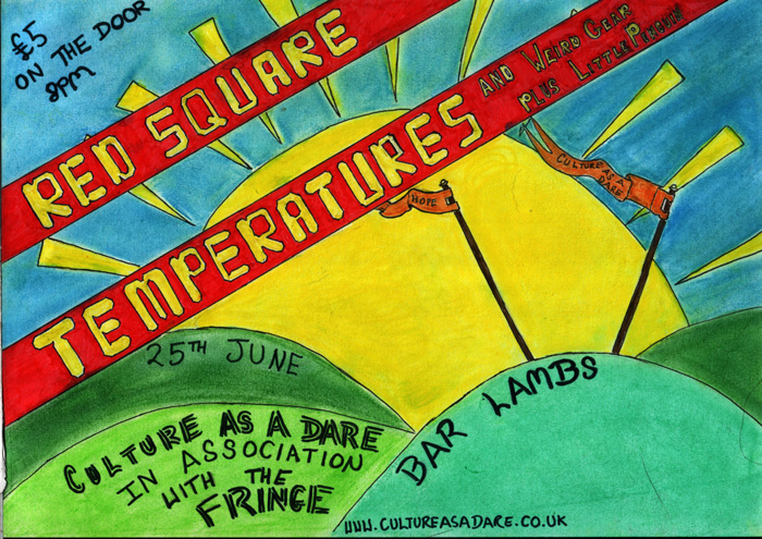 Culture As A Dare (Feat. Little Penguin, The Temperatures, Red Square and art from Ian Treherne) at Bar Lambs, Westcliff - 8pm, £5