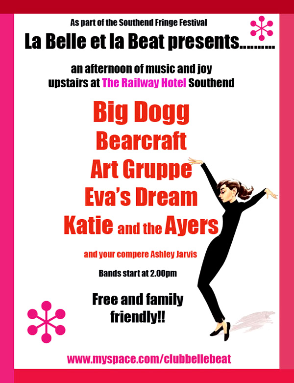 Belle Et La Beat at The Railway Hotel, Southend - Free Entry - 2pm - 5:30pm