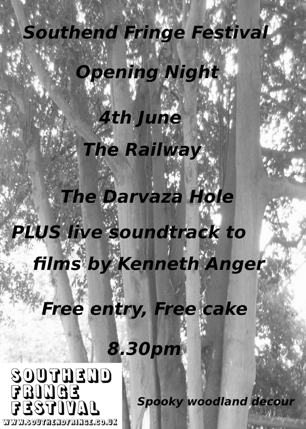 June 4th - Fringe Opening Gala - The Railway hotel, free entry, 8.30pm