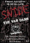 Snide + The Van Dams + Stormchild - Live at The Railway Hotel - 27.07.12