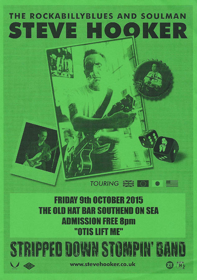 Steve Hooker Stripped Down Stompin' Band - Live at The Old Hat Bar, Southend-on-Sea, Essex, Friday October 9th, 2015