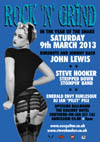 Rock 'n' Grind - In The Year of The Snake - John Lewis + Steve Hooker Stripped Down Stompin' Band + Emerald Envy Burlesque + DJ Ian Pile - Live at The Railway Hotel, Saturday March 9th, 2013