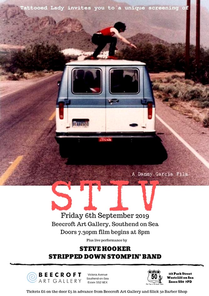 Film Screening of 'Stiv: No Compromise, No Regrets' + Steve Hooker Stripped Down Stompin' Band - Beecroft Art Gallery, Southend-on-Sea - Friday 6th September 2019