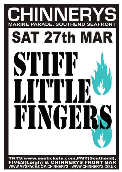Stiff Little Fingers - Live at Chinnerys, Saturday March 27th, 2010