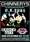 U.K. Subs + Knock Off + 16 Guns - Live at Chinnerys, Southend-on-Sea, Essex - Friday September 18th, 2015