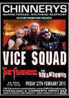 Vice Squad + The Featherz + The Breakdowns - Live at Chinnerys, Southend-on-Sea, Essex - Friday, February 27th 2015