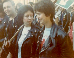 Anti-Nazi League March 1978: L-R Phil Stagg, Jo Gahan & Sue Paget