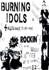 The Burning Idols + Allegiance To No One + DJ's Steve + Steve - Live at The Queens Hotel - 16.02.85 - Flyer