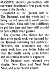The Damned & The Adverts at The Queens - Evening Echo - 13.06.77