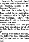 'Generation X' - Evening Echo - 08.08.77