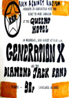 'Generation X' - Live at The Queens Hotel - 10.08.77 - Ticket