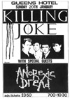 Killing Joke + Anorexic Dread - Live at The Queens Hotel - 20.01.85 - Flyer