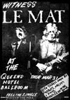 Le Mat - Live at The Queens Hotel, 31.03.83 - Poster