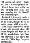 Rock Contest (Featuring The Machines) - At The Queens Hotel - Evening Echo - 22.08.77