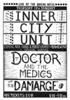 Nick Turner's Inner City Unit + Doctor & The Medics + Damarge + DJ The Dream Maker - Live at The Queens Hotel - 17.01.85 - Flyer