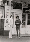 Martin and Rob - Outside The Queens Hotel - Circa 1974