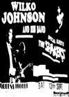 Wilko Johnson + The Shakers - Live at The Queens Hotel - 1980's - Poster