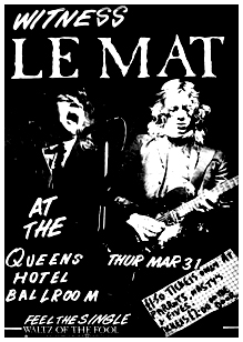 Le Mat - Live at The Queens Hotel - 31.03.83
