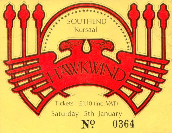 Hawkwind - Live at The Kursaal Ballroom - 05.01.74 - Ticket