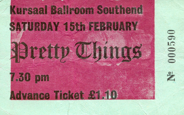 The Pretty Things - Live at The Kursaal Ballroom - 15.02.75 - Ticket