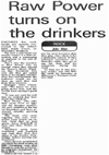 'Raw Power' Feature #1 - Evening Echo, Monday June 23rd 1975