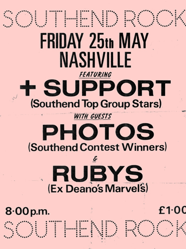 The Rubies - Live at The Nashville, London, with Plus Support and The Photos - Poster