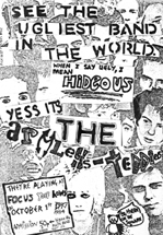 Thee Armless Teddies - First Gig Poster - Focus Youth Centre - 01.10.84