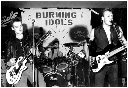 The Burning Idols live at Reids - 1986 - Photograph by Giacomino Parkinson - #1