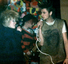 Closedown - Live at The Cliff - 28.12.85 - Photograph courtesy of The Johnny Anderson Archive