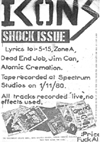 The Icons - Shock Issue - Lyric Booklet to Demo