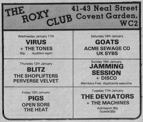 The Machines - Live at The Roxy Club, London - 17.01.78