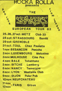 Click Here to see - The Shakers - European Tour Flyer - 1983
