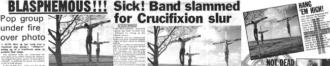 How the crucifixion protest was covered in the Echo and Melody Maker