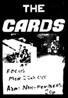 The Cards - Live at Focus Monday October 22nd - Poster